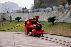 Leshan City, Sichuan Qianwei Kayo National Mine Park Plaza. Kayo train is running on a track north of Sichuan Qianwei just classic train 762 mm on the narrow Stock Photography