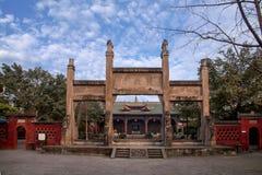 Leshan City, Sichuan Qianwei Qianwei Star of Hope Temple Gate Shihfang Stock Images