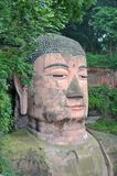 Leshan Giant Buddha. (Dafo) is UNESCO World Heritage site, located in Le Shan City, Sichuan Province, China Royalty Free Stock Photography