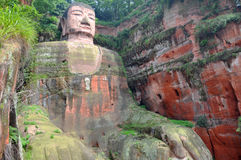 Leshan Giant Buddha, Sichuan, China. Leshan Giant Buddha (Dafo) is UNESCO World Heritage site, located in Le Shan City, Sichuan Province, China. Giant Stock Photo