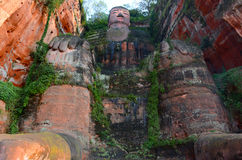 Leshan Giant Buddha. Carved in the Tang Dynasty Kaiyuan reign (713 years), completed in Zhenyuan nineteen years (803 years), which lasted for about ninety years Stock Images
