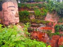 Leshan Giant Buddha. Dafo, UNESCO World Heritage site, Le Shan City, Sichuan, China Royalty Free Stock Photo