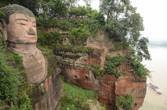 Leshan Giant Buddha In Mt.Emei Royalty Free Stock Photography