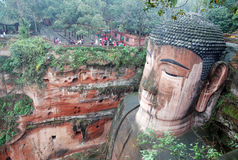 Leshan Giant Buddha in Mt.Emei royalty free stock images