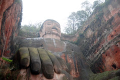 Leshan Giant Buddha in Mt.Emei Stock Images
