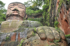 Leshan Giant Buddha in Mt.Emei stock photo