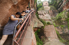 Leshan Giant Buddha in Mt.Emei Stock Image
