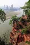 Leshan Giant Buddha nine plank Stock Images