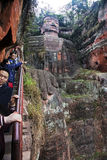 Leshan Giant Buddha in Sichuan province in China Stock Photo
