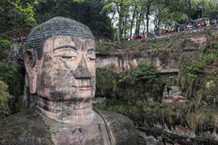 Leshan Giant Buddha in Sichuan province in China Royalty Free Stock Photography