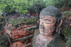 Leshan Giant Buddha in Sichuan province in China Stock Photography