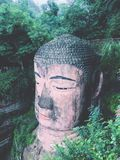 Leshan giganta Buddha statua zdjęcie royalty free