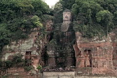 Leshan goldener Buddha Stockfotos