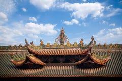 Leshan miasta, Sichuan Qianwei Qianwei Dacheng Świątynna brama Obraz Stock