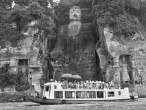 LESHAN, prowincja sichuan, CHINY, OKOŁO WRZESIEŃ 2017: Leshan gigant Buddha Zdjęcia Royalty Free