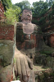 Leshan puddha,sichuan,china. Grand Buddha statue in Leshan, China. It was finished in the year 803, and is in total 71 meters high royalty free stock image