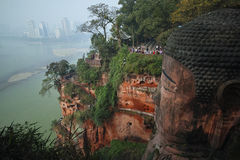 Leshan-Riese Buddha, China Stockbilder