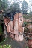 Leshan riesiger Buddha in Mt.Emei des Porzellans Stockfotografie