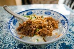 Leshan Spicy tofu brain, Chinese snack. Tofu pudding stock images