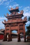 Leshan stad, fyrkant för Sichuan Qianwei stadigt sonlig qianweitempel Arkivbilder