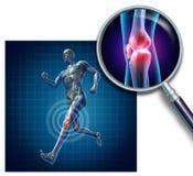 Lesión de rodilla de los deportes ilustración del vector