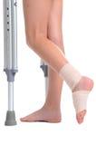 Lesión del pie Imagen de archivo libre de regalías