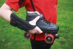 Lesión patinadora de los deportes Foto de archivo libre de regalías