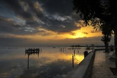 Lesina and its lake Royalty Free Stock Images