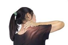 Lesione dell'osso di spalla fotografia stock