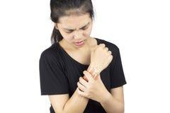 Lesione delle ossa di polso fotografia stock