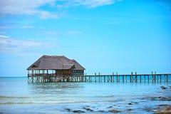 Lesisty bridżowy molo w Zanzibar Zdjęcie Stock