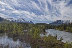 Lesjaskogsvatnet Stockfotos