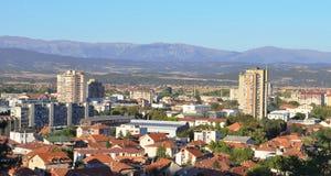 Leskovac-Panorama von Hisar Lizenzfreies Stockbild