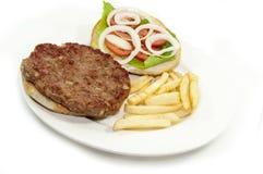 Leskovacka Pljeskavica. Serbian burger patty called Pljeskavica Royalty Free Stock Photography