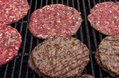 Leskovacke pljeskavice. Serbian burgers on the grill Royalty Free Stock Images