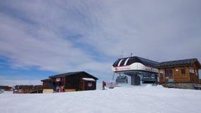 Leslandhuizen Ski Lift Royalty-vrije Stock Fotografie