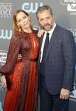 Leslie Mann and Judd Apatow. At the 23rd Annual Critics` Choice Awards held at the Barker Hangar in Santa Monica, USA on January 11, 2018 Royalty Free Stock Photos