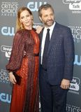 Leslie Mann and Judd Apatow. At the 23rd Annual Critics` Choice Awards held at the Barker Hangar in Santa Monica, USA on January 11, 2018 stock images