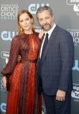 Leslie Mann och Judd Apatow Royaltyfri Foto