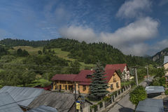 Lesnica village in Pieniny national park Stock Photo