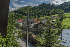 Lesnica village in Pieniny national park Royalty Free Stock Images