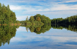 Lesnoe Lake on Bolshoy Solovetsky Island, Russia Royalty Free Stock Images