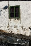 Old Houses at village of Lesnovo at Osogovo Mountain, Probistip region, Republic of Nort. LESNOVO, NORTH MACEDONIA - JULY 21, 2018: Old Houses at village of royalty free stock photo