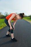 Lesão de joelho Imagens de Stock