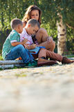 Lesons park family Royalty Free Stock Photos
