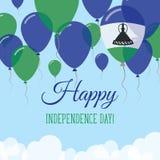 Lesothiskt kort för självständighetsdagenlägenhethälsning Stock Illustrationer