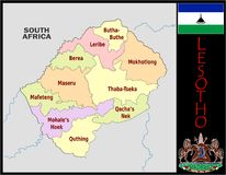 Lesotho Administrative divisions Royalty Free Stock Photo
