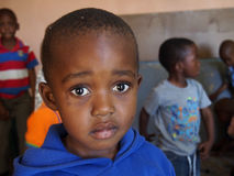 LESOTHO BOY. A young boy is seen in Maseru, Lesotho in southern Africa Stock Photography