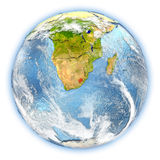 Lesotho on Earth isolated Stock Images