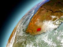 Lesotho från omlopp av modellen Earth Arkivbilder